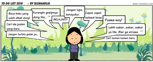 To-do list buat 2010. ^^
