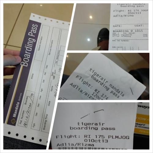Boarding pass-nya pernah sekali pake gaya jaman dulu, old school banget lah. :lol: